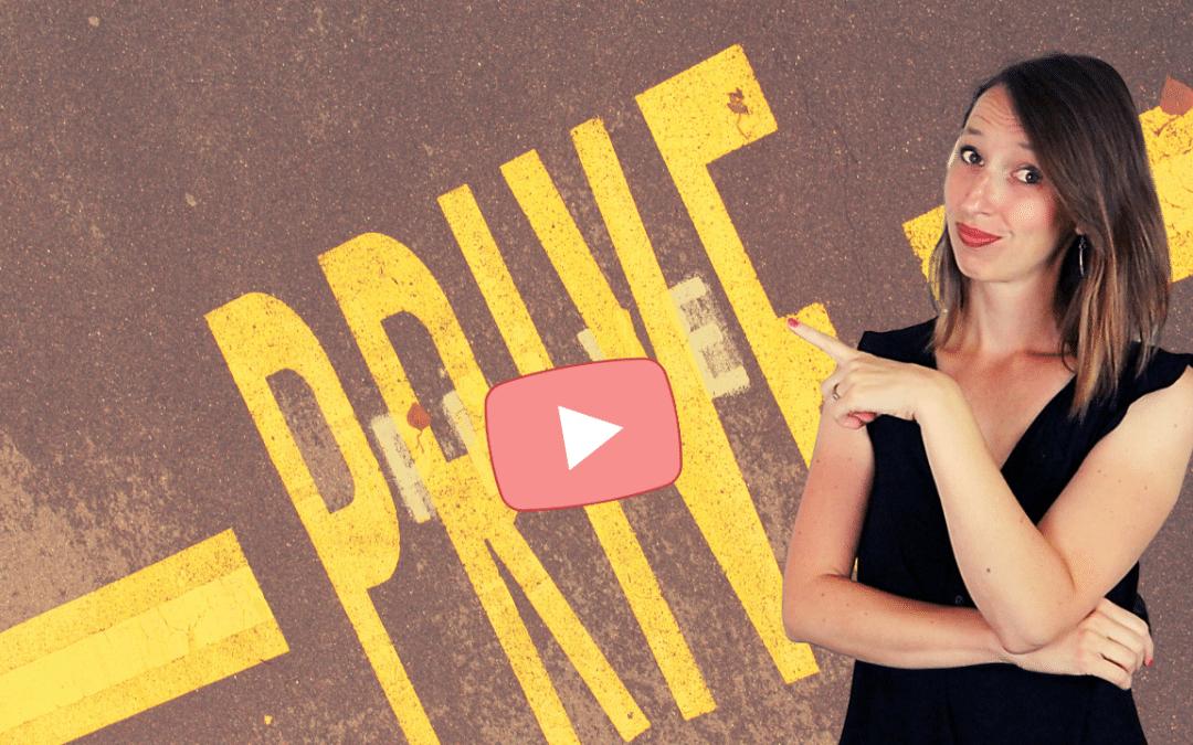 Comment partager une vidéo privée YouTube