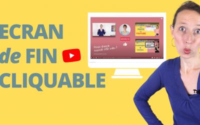 YouTube Outro | Comment créer un ÉCRAN DE FIN  avec CANVA