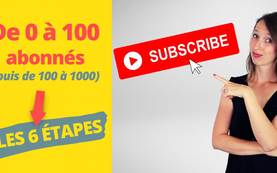 Comment avoir tes 100 premiers abonnés YouTube (2021) | EN TANT QU'ENTREPRENEUR